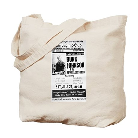 1945 Bunk Johnson at the San Jacinto Club Tote Bag