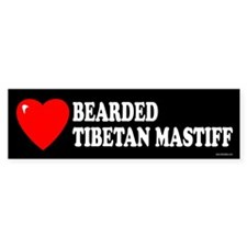 BEARDED TIBETAN MASTIFF Bumper Bumper Sticker