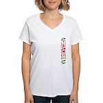 Afghanistan Women's V-Neck T-Shirt