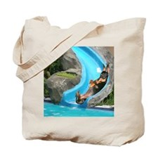 Lily Water Slides Dachshunds Tote Bag