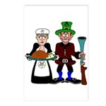 Thanksgiving Pilgrims Postcards (Package of 8)