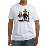 Thanksgiving Pilgrims Fitted T-Shirt