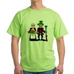 Thanksgiving Pilgrims Green T-Shirt