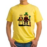 Thanksgiving Pilgrims Yellow T-Shirt