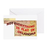 Flat Oklahoma Greeting Card