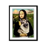 Mona's G-Shepherd Framed Panel Print