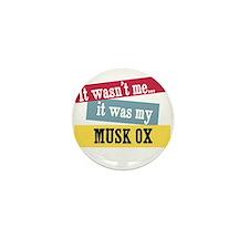 Musk Ox Mini Button