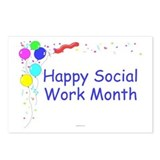 Happy Social Work Month Postcards (Pack of 8)