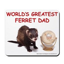 Worlds Greatest Ferret Dad Mousepad