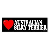 AUSTRALIAN SILKY TERRIER Bumper Car Sticker