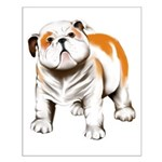 Cute Bull Dog Puppy Small Poster