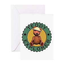 Teddy Bear Explorer Greeting Card