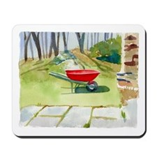 Red Wheelbarrow Mousepad