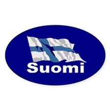 Suomi Flag Oval Decal
