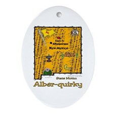 NM-Alber-quirky! Oval Ornament