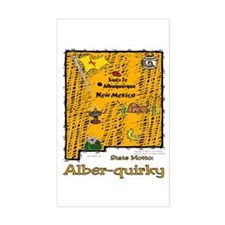 NM-Alber-quirky! Rectangle Decal