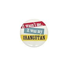 Orangutan Mini Button (10 pack)