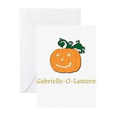 Gabrielle-O-Lantern Greeting Card