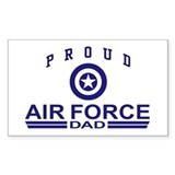 Proud Air Force Dad Rectangle Decal