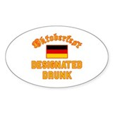 Oktoberfest Drunk Oval Decal