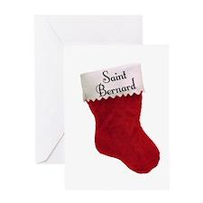 Saint Stocking Greeting Card