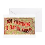 Flat Kansas Greeting Card