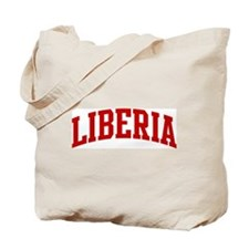 LIBERIA (red) Tote Bag