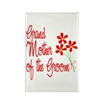 Bouquet Groom's Grandma Rectangle Magnet (100 pack
