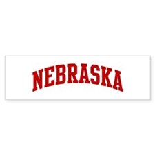 NEBRASKA (red) Bumper Bumper Sticker