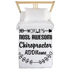 Personalized Worlds Most Awesome Chirop Twin Duvet