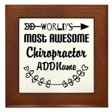 Personalized Worlds Most Awesome Chiro Framed Tile