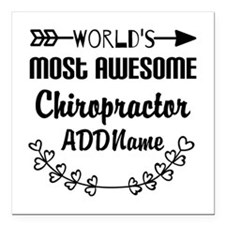 """Personalized Worlds Most Square Car Magnet 3"""" x 3"""""""