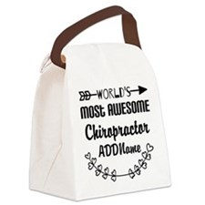 Personalized Worlds Most Awesome Canvas Lunch Bag