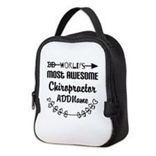 Personalized Worlds Most Awesom Neoprene Lunch Bag