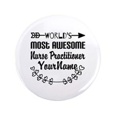 """World's Most Awesome Nurse 3.5"""" Button (100 pack)"""