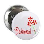 Bouquet Bridesmaid Button