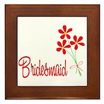 Bouquet Bridesmaid Framed Tile