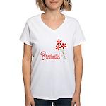 Bouquet Bridesmaid Women's V-Neck T-Shirt