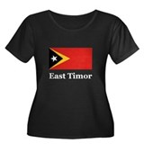 East Timor Women's Plus Size Scoop Neck Dark T-Shi