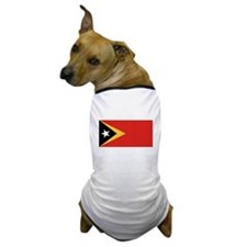 East Timor Flag Dog T-Shirt