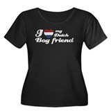 I love my Dutch boy friend Women's Plus Size Scoop