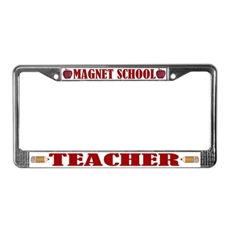 Magnet School Teacher License Plate Frame