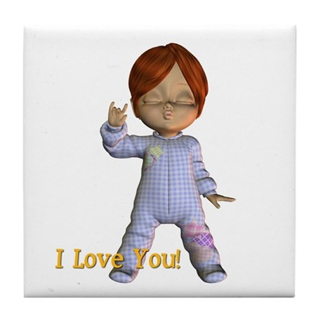 Tile Coaster - I Love You - Kevin