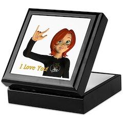 Keepsake Box - Jan - I Love You