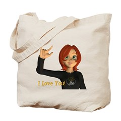 I Love You! - Jan Tote Bag