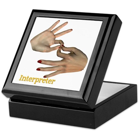 Keepsake Box - Female Interpreter hands