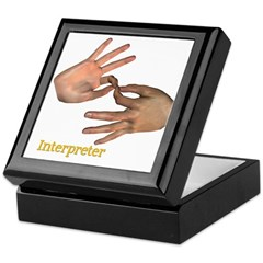 Keepsake Box - Male Interpreter Hands
