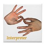 Tile Coaster - Interpreter Male Hands