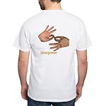 Interpreter White T-Shirt - Male Hands