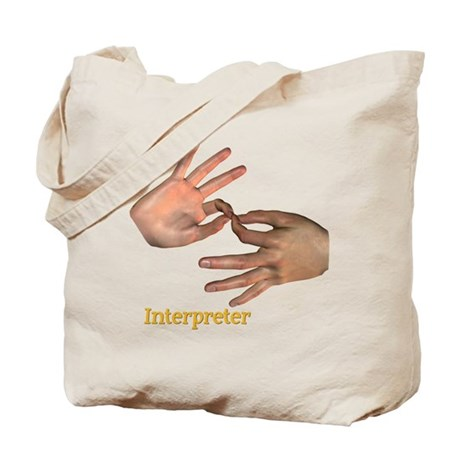Interpreter - Male Hands Tote Bag